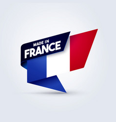 Made in france flag pin vector