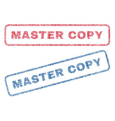 Master copy textile stamps vector