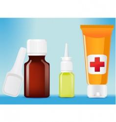 Medical bottles vector