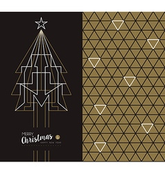 merry year art deco set holiday card vector image