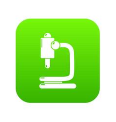 microscope icon green vector image