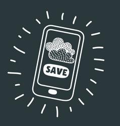 mobile cloud service vector image