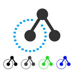 Molecule structure analysis flat icon vector