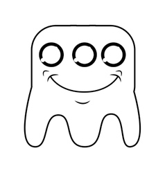 monster comic character icon vector image