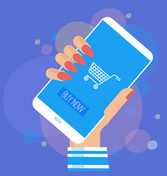 Online internet and mobile shopping vector