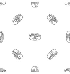 open tuna can pattern seamless vector image
