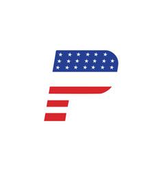 p logo usa vector image