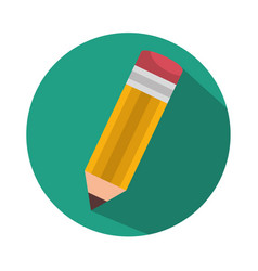 Pencil school supply isolated icon vector