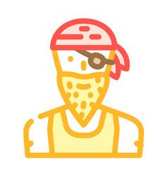 Pirate person color icon vector