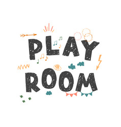 play room - colorful logo isolated on white vector image