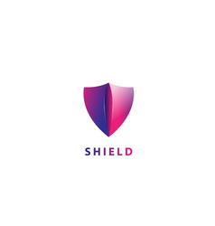 protected security shield vector image