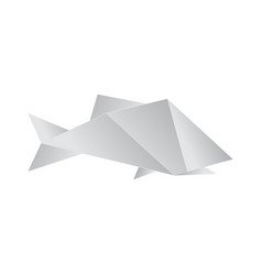 realistic detailed 3d origami paper fish vector image