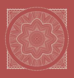 Red bandana marsala trendy color vector