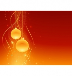 red golden festive christmas background vector image