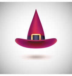 Red witch hat for Halloween vector