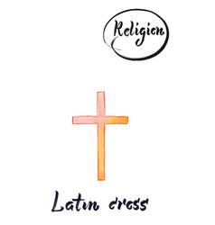 Religious sign-latin cross vector