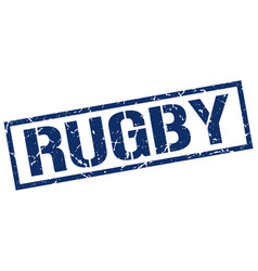 Rugby stamp vector