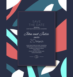 Save date an invitation to a wedding vector