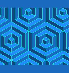 seamless isometric pattern volumetric geometric vector image