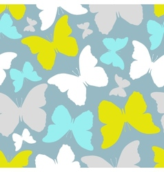 Seamless pattern with stylized silhouette vector image