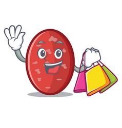 Shopping salami character cartoon style vector