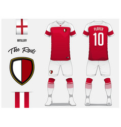 Soccer jersey or football kit template vector