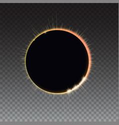 Solar eclipse - full sun eclipse bright light vector