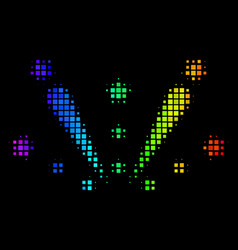 Spectrum dotted fireworks explosion icon vector