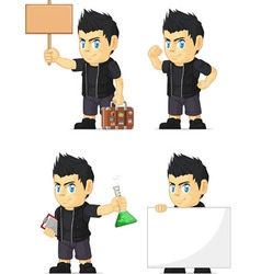 Spiky Rocker Boy Customizable Mascot 19 vector image