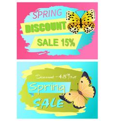 Spring discount sale 15 off discount 45 set vector