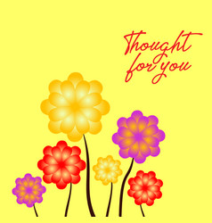 spring flowers on yellow background beautiful vector image