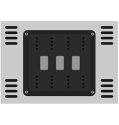 steel texture background vector image