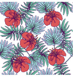 Summer colorful hawaiian seamless pattern with vector