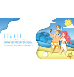 travel web banner website landing page vector image