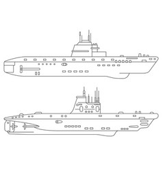 two submarines vector image
