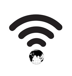Wifi Symbol World vector image