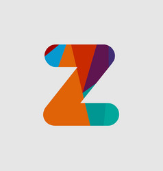 Z diamond font template design vector