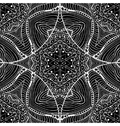 Abstract gothic black lacy seamless pattern vector