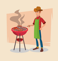 bbq party barbecue tools grill forks vector image