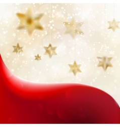 Christmas background with stars vector image