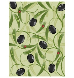 floral background with olive vector image vector image