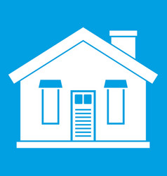 house icon white vector image