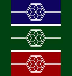 set logo flower vector image vector image