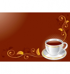 background with white glossy cup vector image vector image