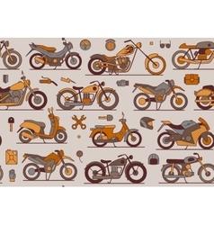 motorbikes seamless pattern vector image vector image