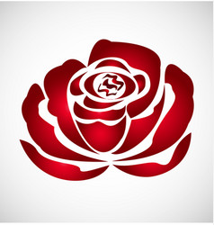 red rose flower logo vector image