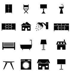 home icon set vector image