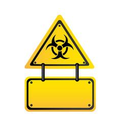 metal biohazard warning notice sign icon vector image vector image