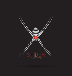spider design on black background insect animal vector image vector image