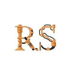 Steampunk font vector image vector image